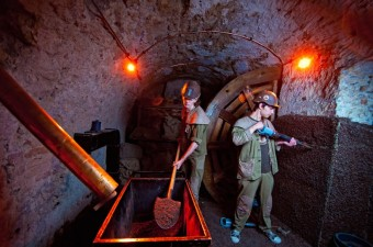 Добыча кофе в шахте