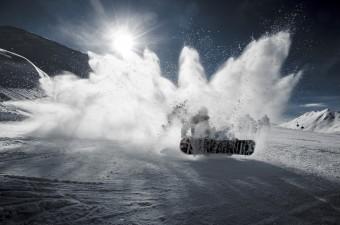 Сноубордист в Буковели