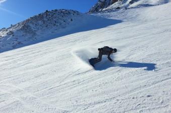 Сноубордист в Буловеле